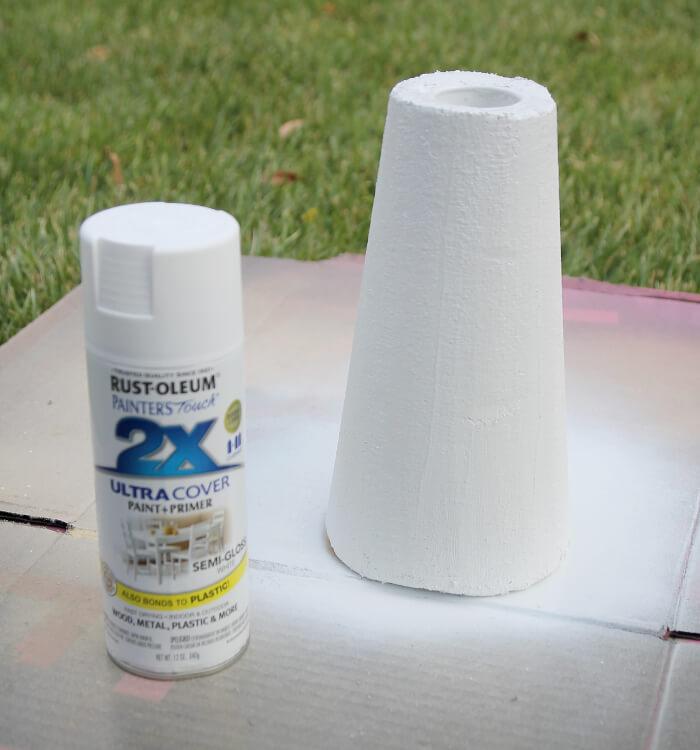 DIY faux plaster vase