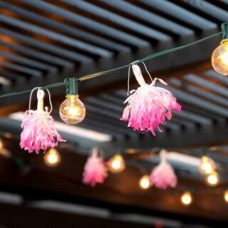 DIY Tissue Tassel String Lights