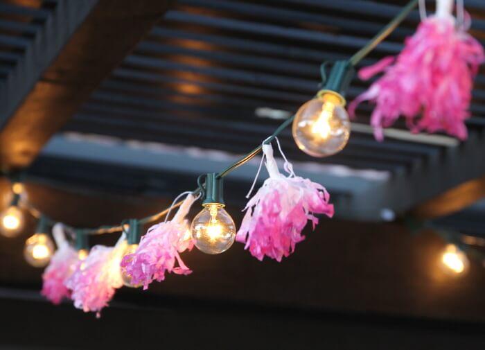 DIY Tassel String Lights