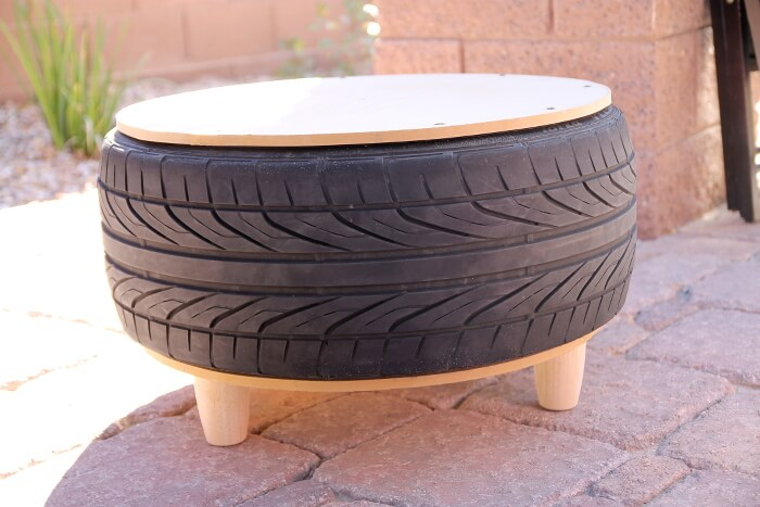 DIY Tire Coffee Table