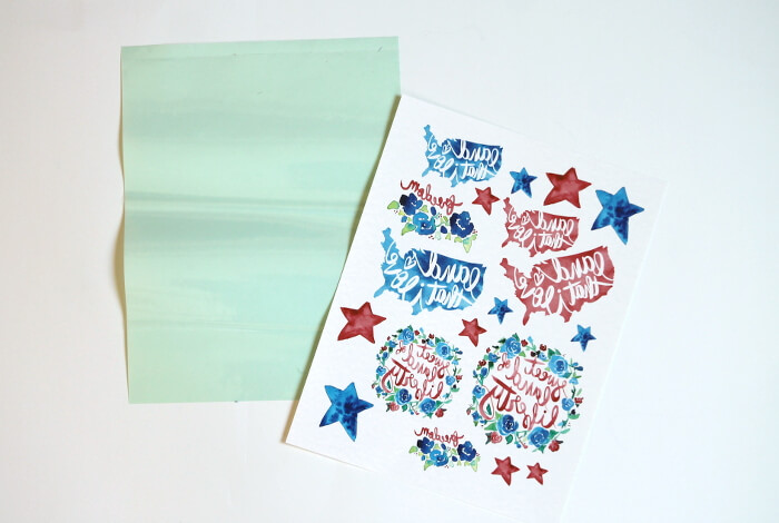 Make Watercolor Fourth Of July Temporary Tattoos  Persia Lou