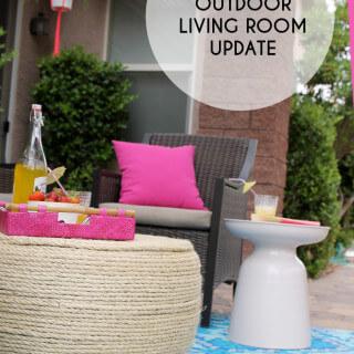 Summer Outdoor Living Room Update