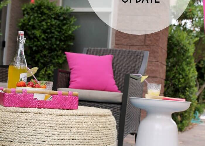 Summer Outdoor Living Room Update