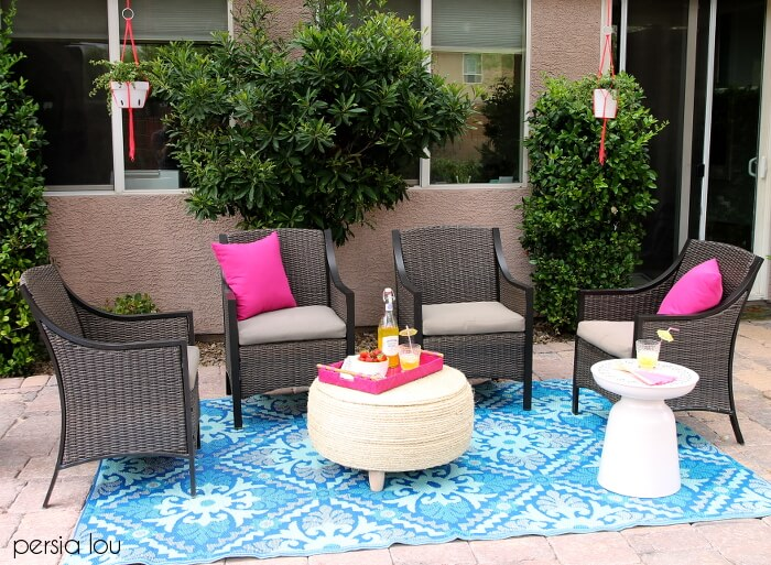 Colorful Outdoor Living Space