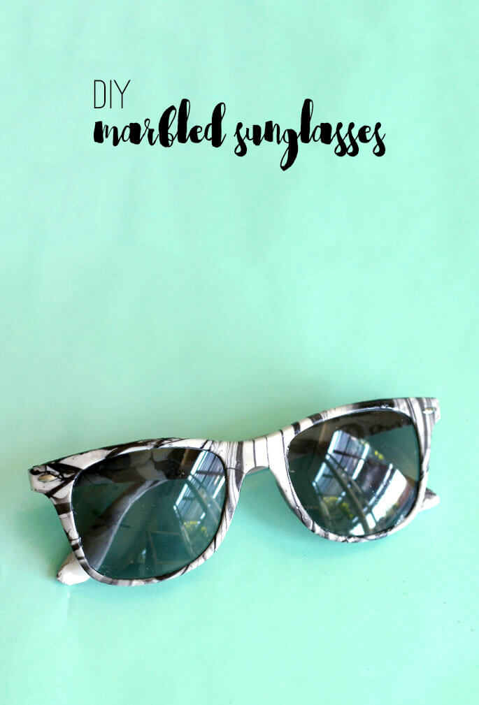 DIY Marbled Sunglasses - love this idea! So cute and easy