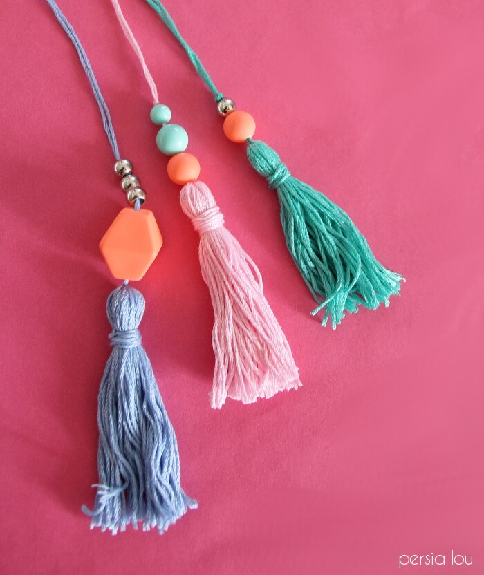 make your own beaded tassels