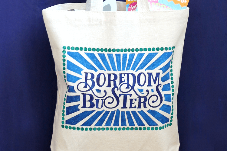 Boredom Busters Bag over at Darice