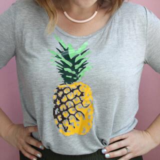 DIY Multi-Colored Pineapple Tee