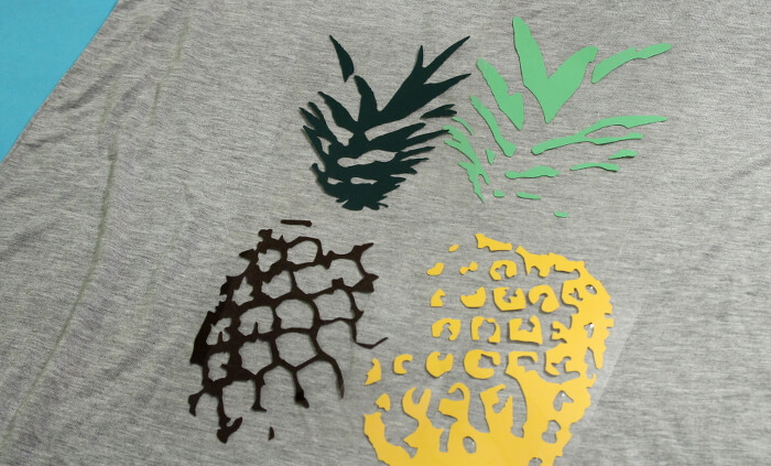 DIY pineapple t shirt