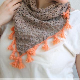 Tasseled Crochet Neckerchief Pattern