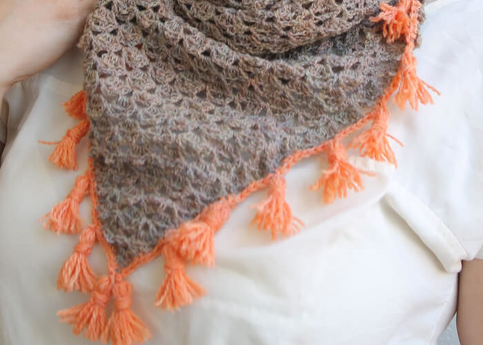 Tasseled Crochet Neckerchief Pattern