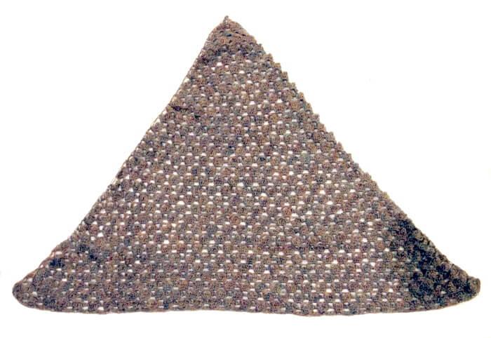 tasseled crochet neckerchief