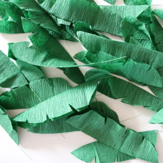 make your own crepe paper banana leaves