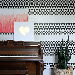 DIY Geometric Accent Wall – With Vinyl!