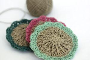Crocheted Hemp Scrubbies – Free Pattern