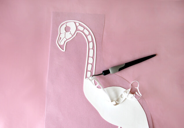 flamingo skeleton graphic
