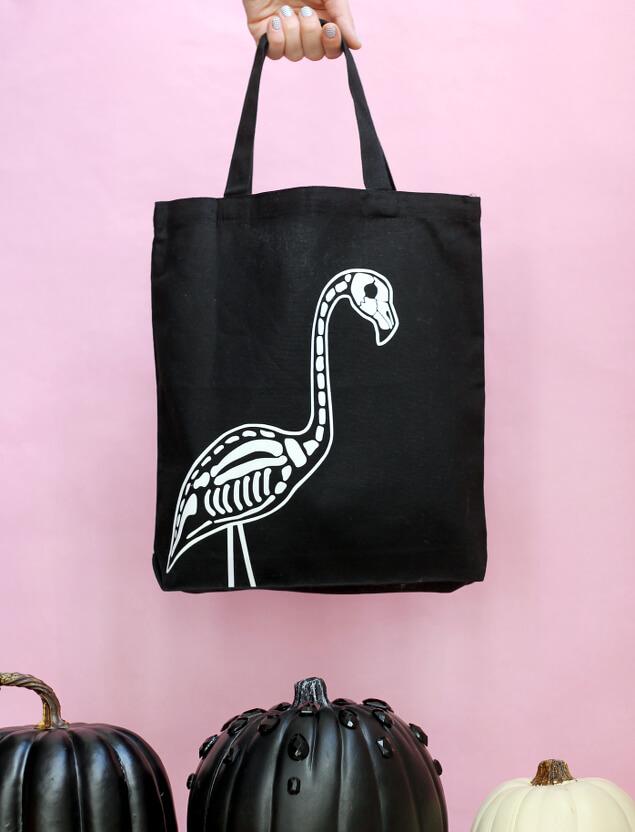 flamingo skeleton tote 2