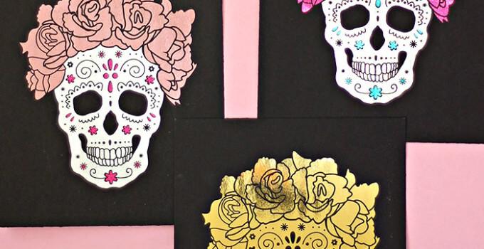 DIY Foil Sugar Skull Prints