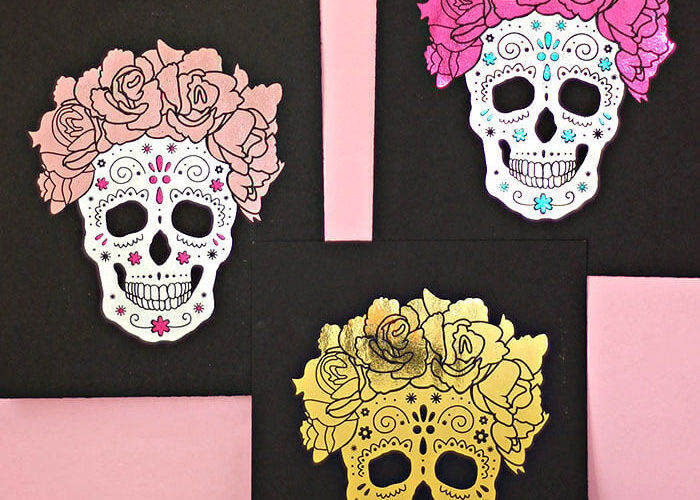 DIY Foil Sugar Skull Prints