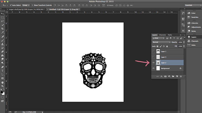 sugar skull layers