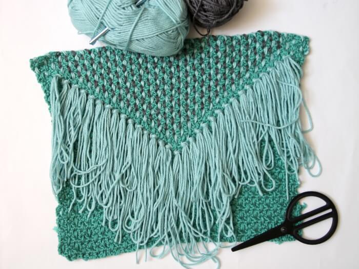 woven tassel pillow step eight