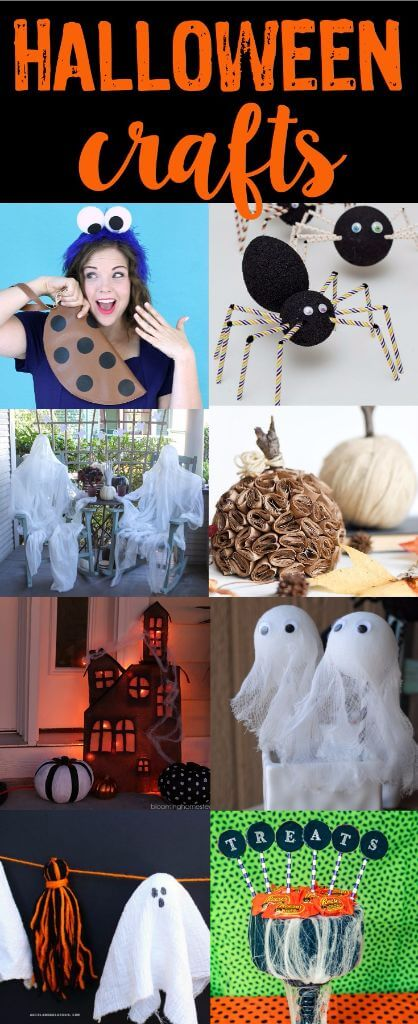 Tons of great Halloween crafts, seriously some of the cutest Halloween craft ideas! Those ghosts are just plain awesome!