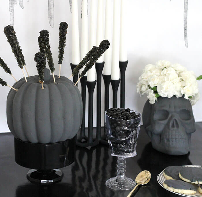 black and white halloween party 6