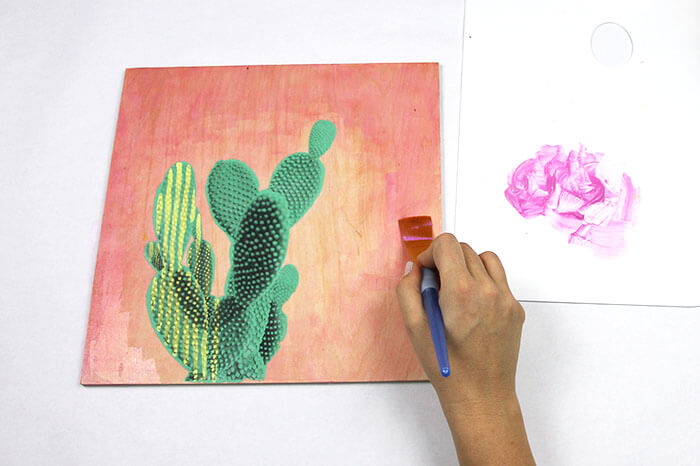 cactus art step five