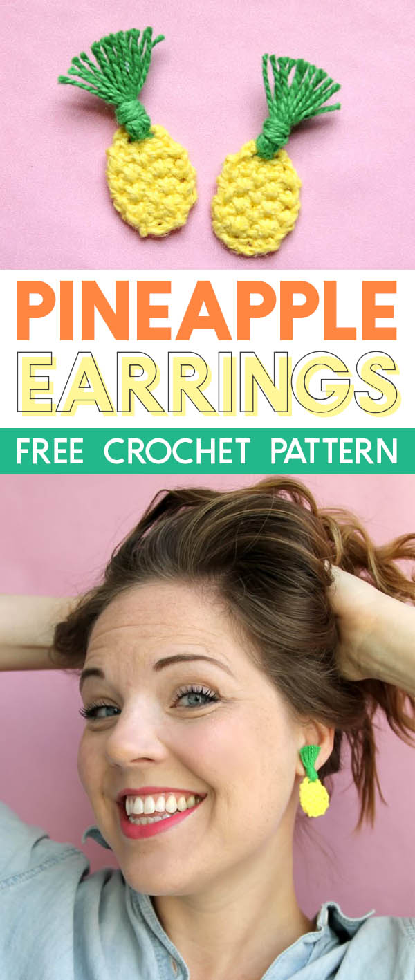 how to crochet pineapple earrings - free crochet pattern