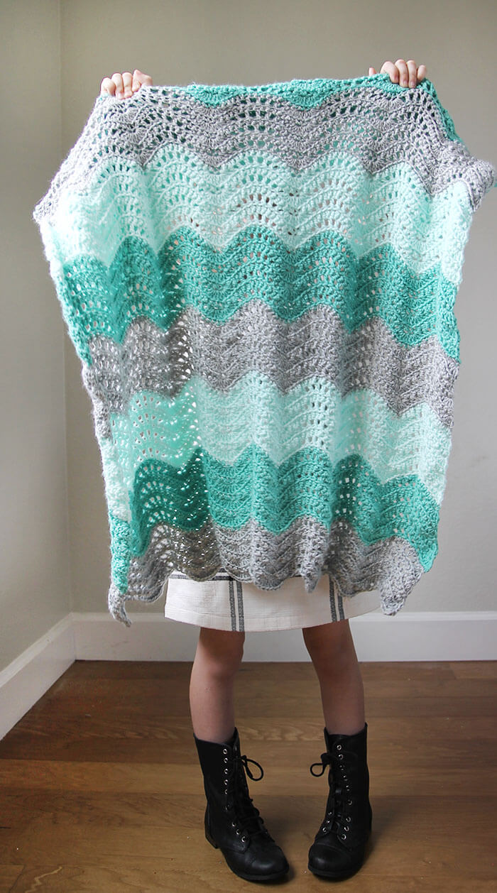 Crochet Feather And Fan Baby Blanket