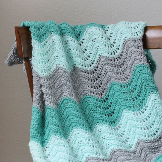 Feather and Fan Baby Blanket Crochet Pattern