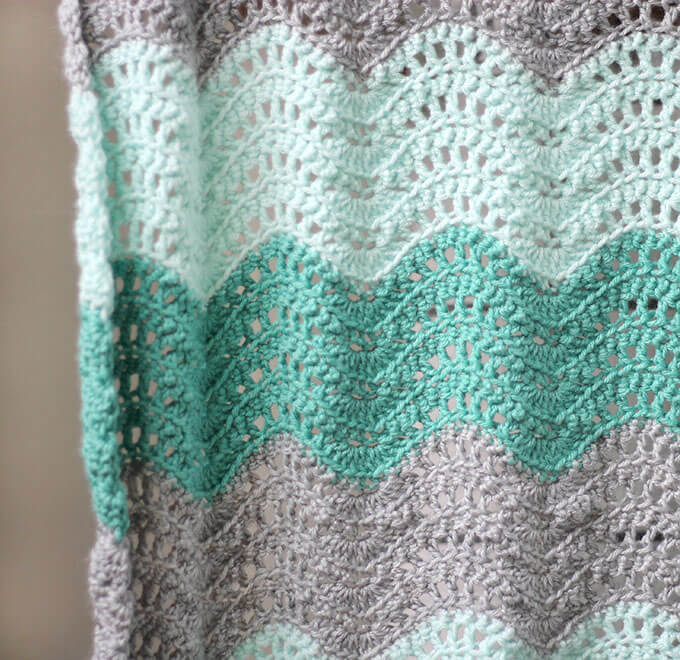 graphic regarding Free Printable Knitting Patterns for Baby Blankets named Crochet Feather and Enthusiast Youngster Blanket - No cost Habit - Persia Lou