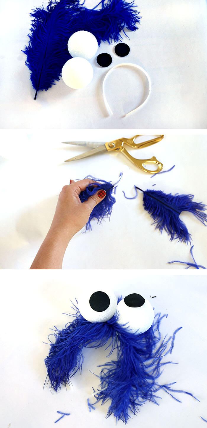Easy Homemade Cookie Monster Costume Persia Lou