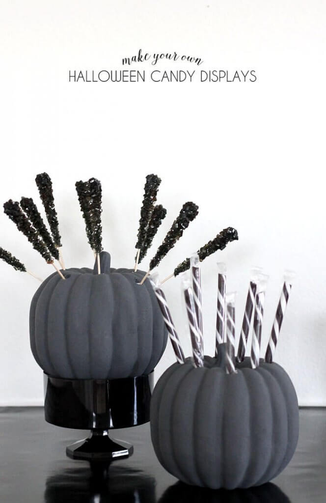 make your own halloween candy displays
