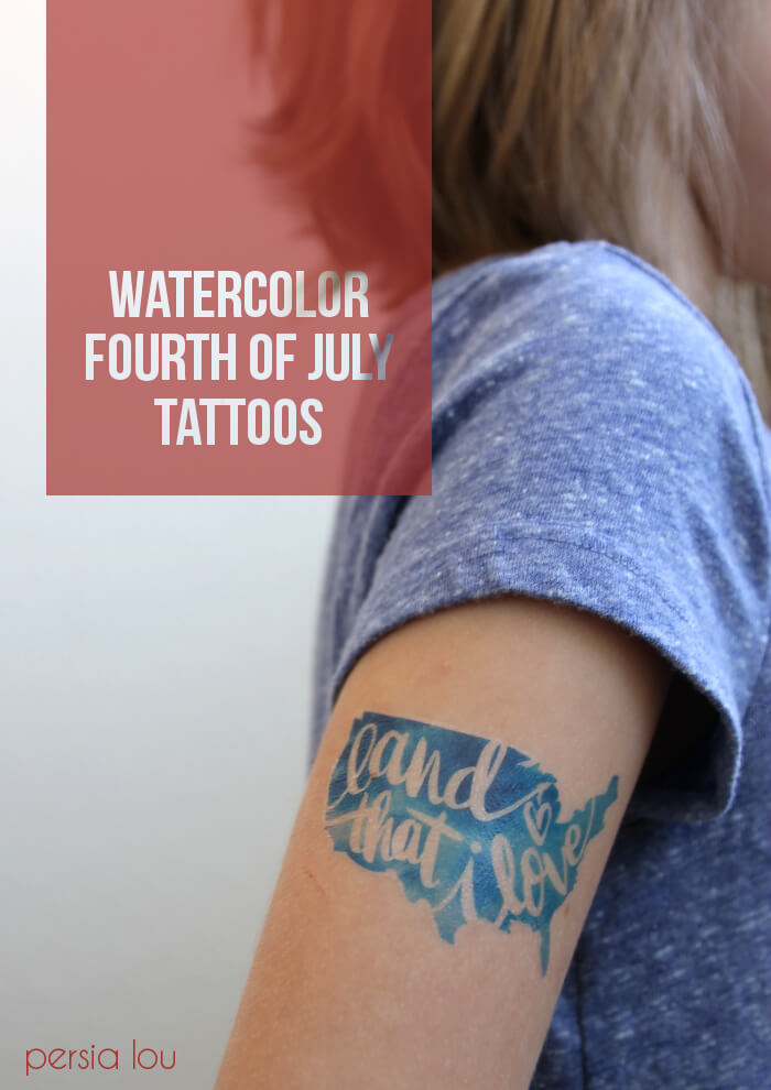 watercolor fourth of july tattoos www.persialou.com