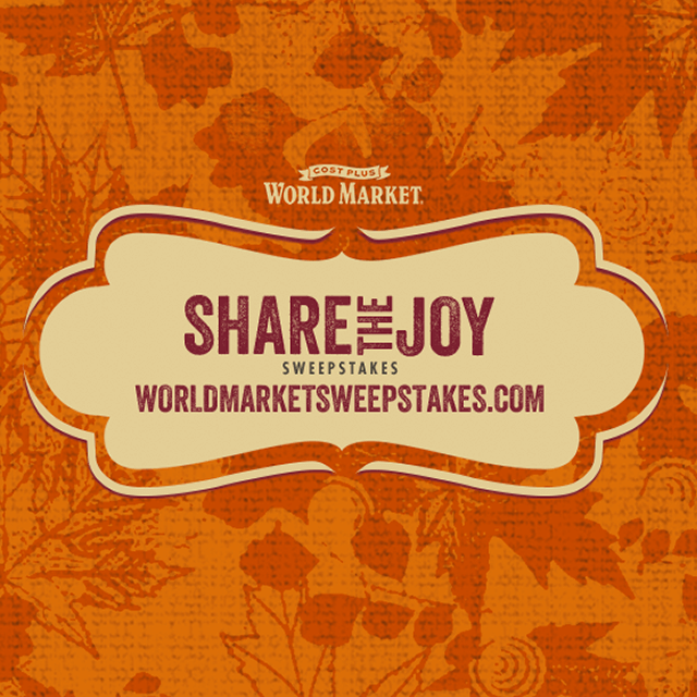 World Market Share the Joy Sweepstakes