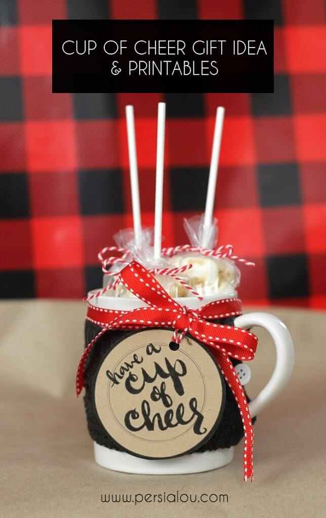 Cup of Cheer Gift Idea and Printable Tags