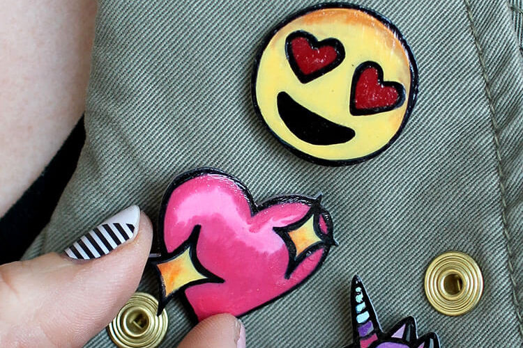 DIY Lapel Pins – Emoji Pin Flair!