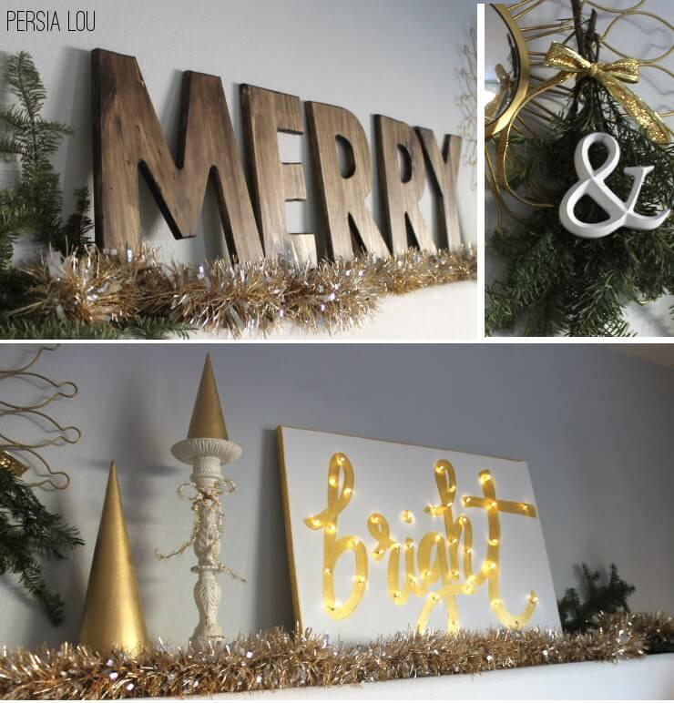 Merry and Bright Lighted Sign