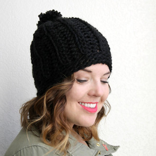 Chunky Ribbed Slouch Hat – Free Chunky Crochet Hat Pattern