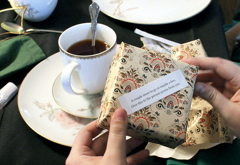 host a downton abbey winter tea party - ideas for food, decor, games, and crafts
