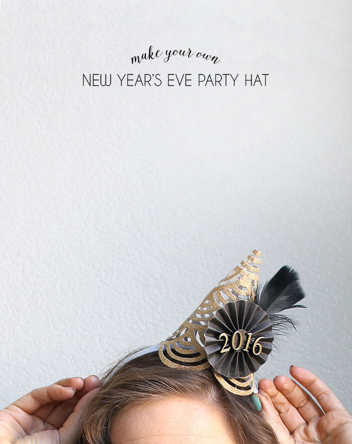 make your own mini party hats for new years eve