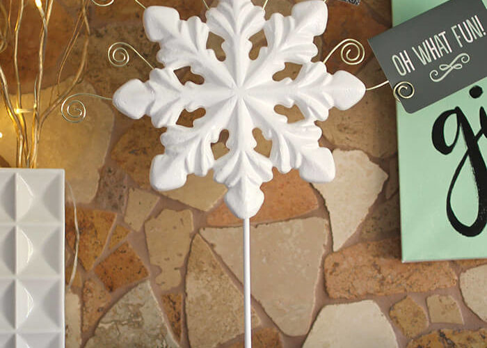 DIY Snowflake Christmas Card Holder