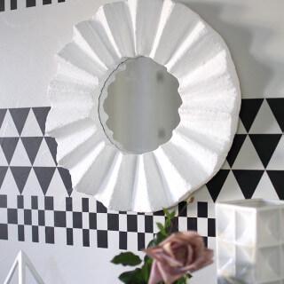 DIY Fluted Wall Mirror