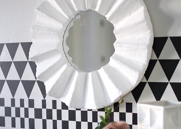 DIY Fluted Wall Mirror