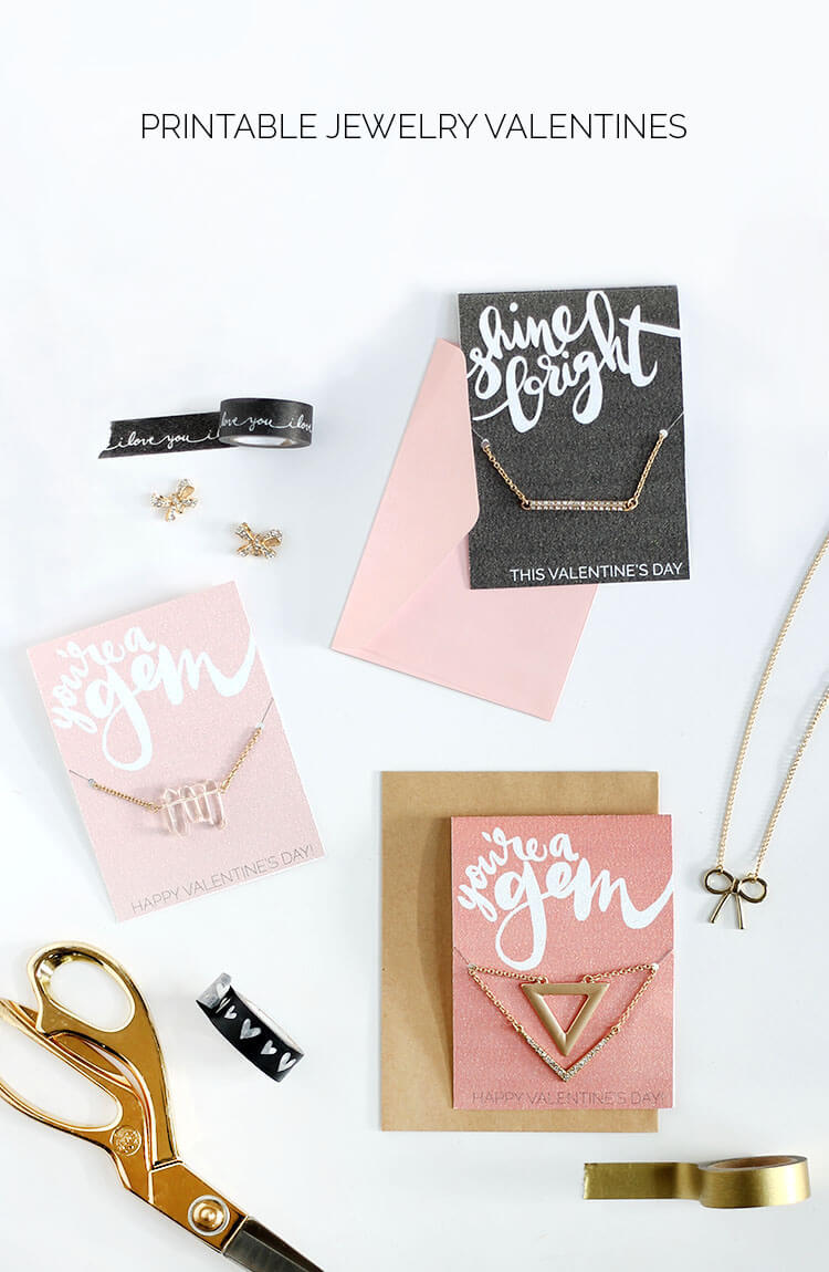 give your best girlfriends a sweet treat this valentine's day - printable valentine jewelry holders! Just print off, add a necklace, and share the love this galentine's day - perfect for tweens and teens too