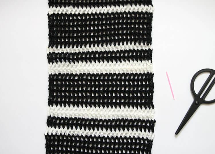 plaid scarf step one 2