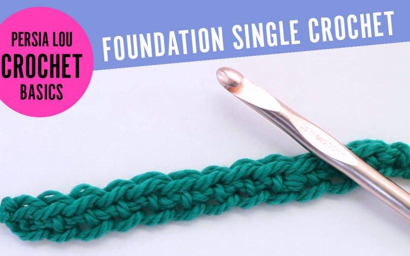New Video: Foundation Single Crochet