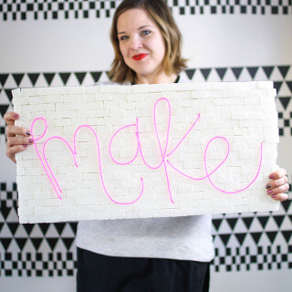 How to Make a DIY Brick & Neon Sign with EL Wire