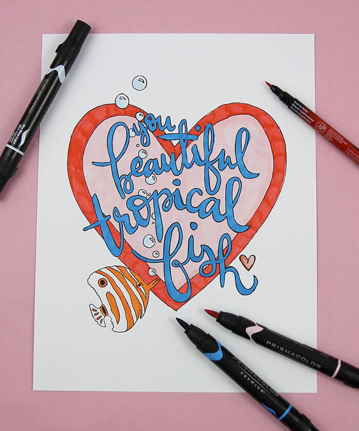 Printable Coloring Cards for Galentine's Day! Print and color these cute cards for your friend's for valentine's day this year. Makes a great gift when paired with markers or colored pencils!